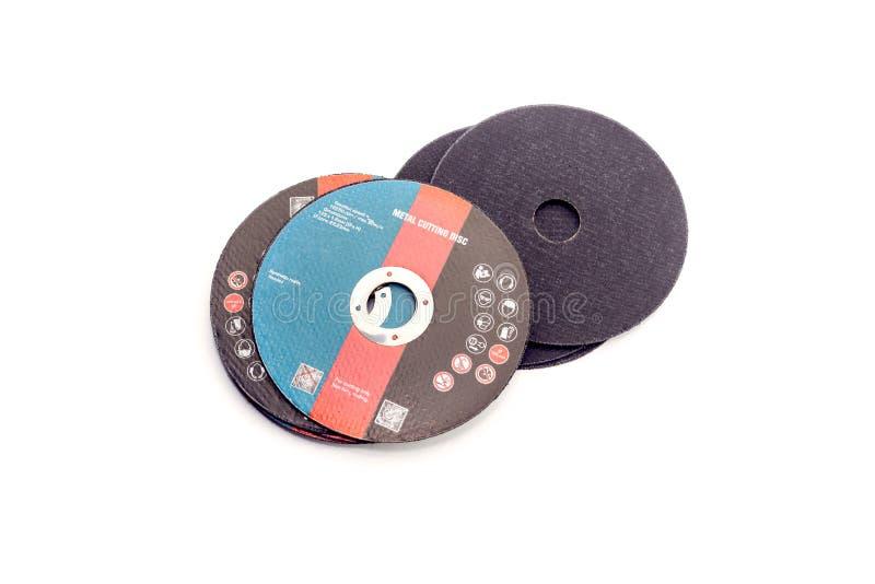 Le disque de coupe en métal image stock