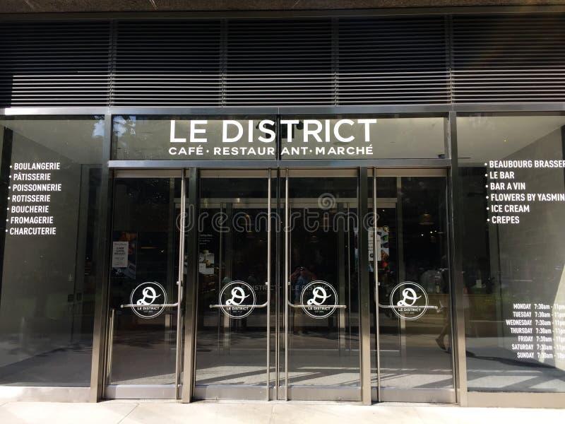 Le District Cafe' , Lugar de Brookfield imagen de archivo