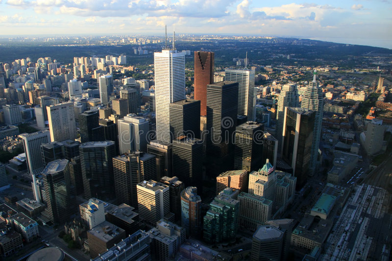 Le district des affaires central de Toronto photographie stock libre de droits