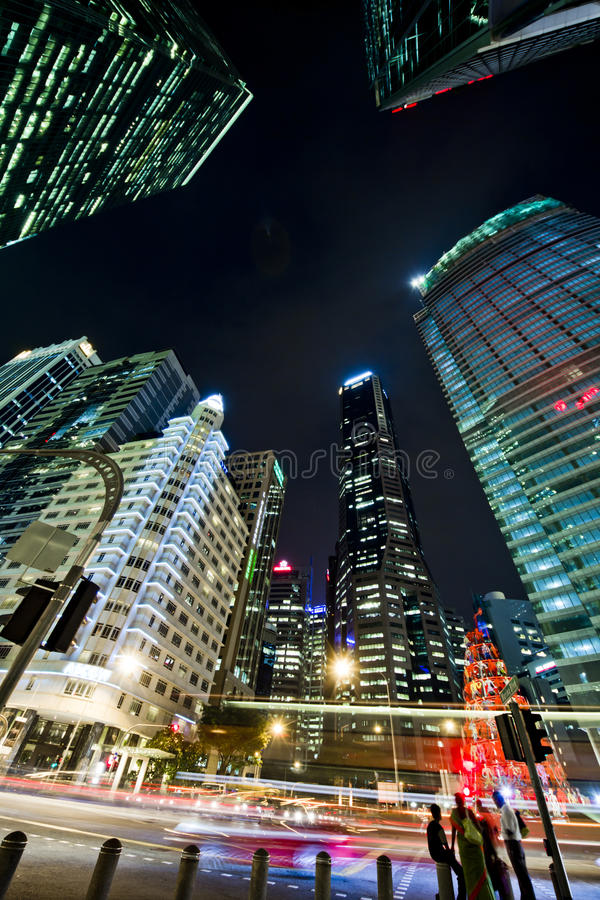 Le district financier de Singapour photographie stock libre de droits