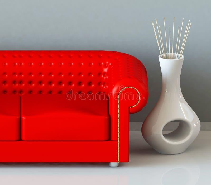 Le divan rouge illustration stock