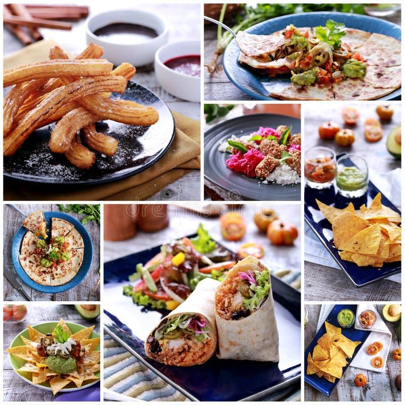 Le divers buffet mexicain de nourriture, se ferment  photo stock
