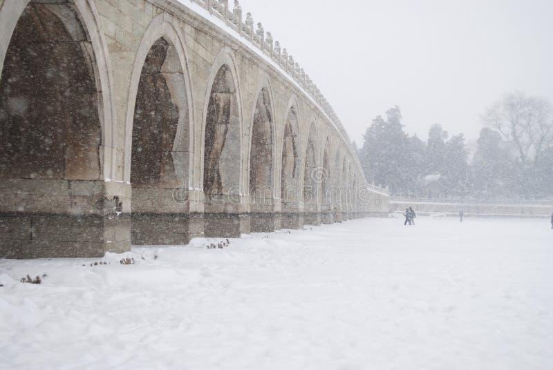 Le Dix-sept-Voûte-pont photographie stock libre de droits