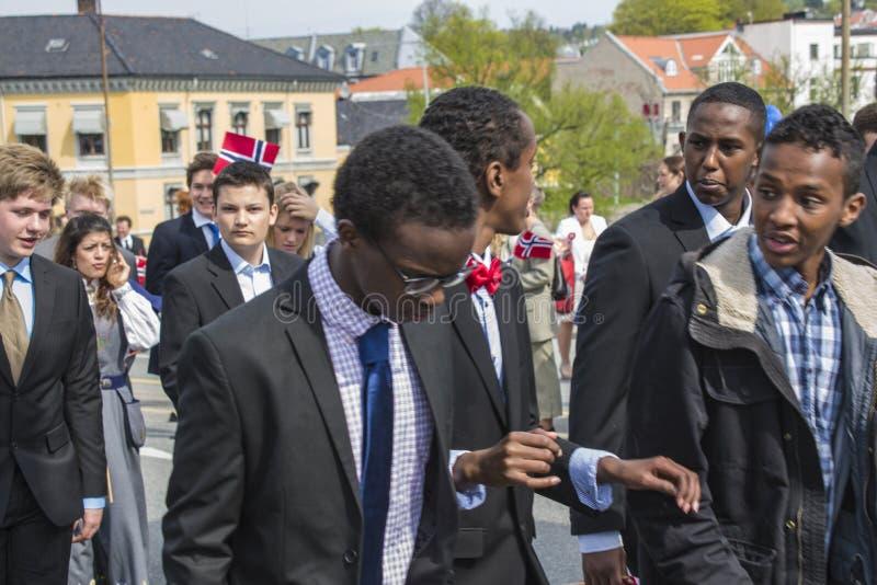 Le dix-septième de peut, le jour national de la Norvège photo libre de droits