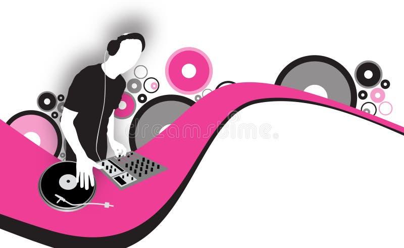 LE DJ illustration de vecteur