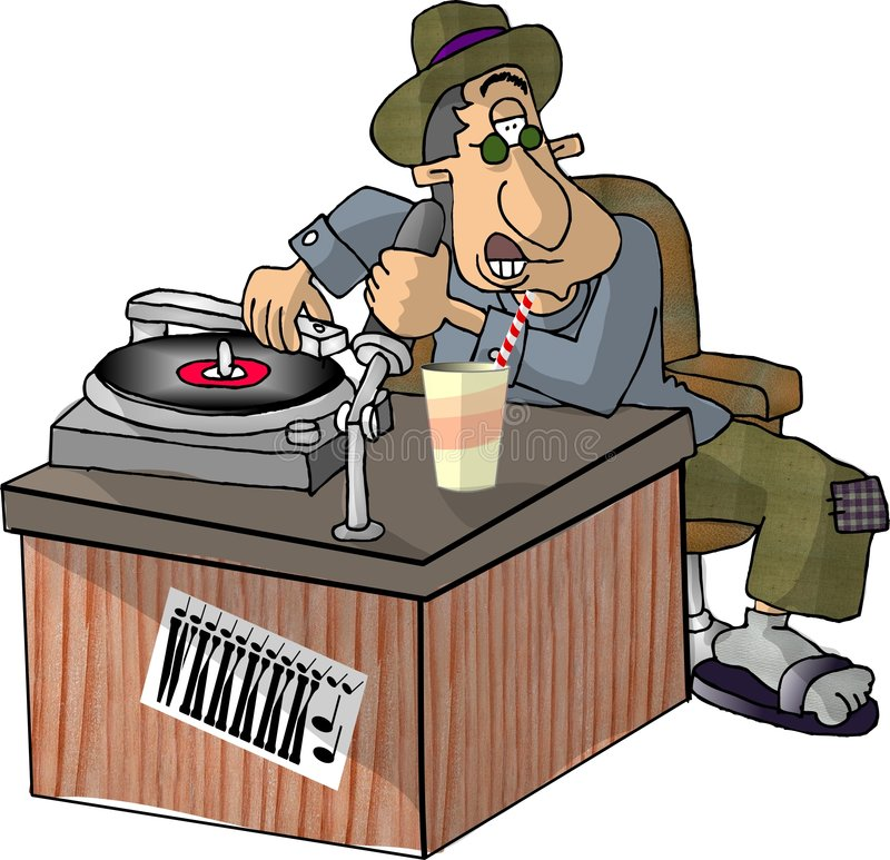 Download LE DJ illustration stock. Illustration du type, homme, microphone - 52980
