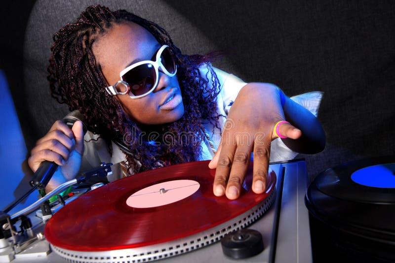 Le DJ afro-américain photographie stock libre de droits