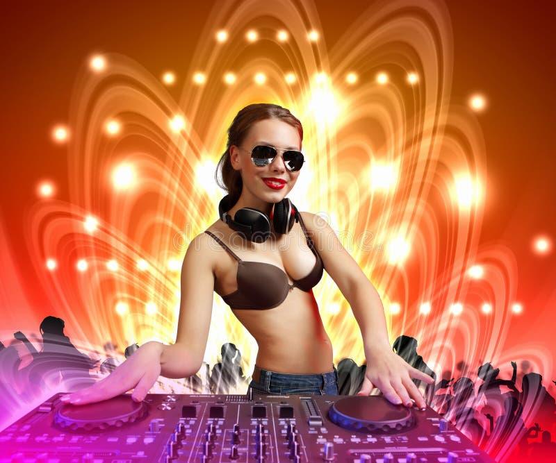 Le DJ et le mélangeur illustration stock