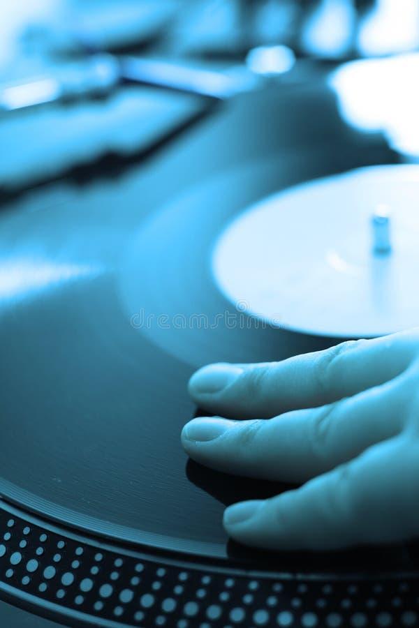 Le DJ bleu photographie stock libre de droits