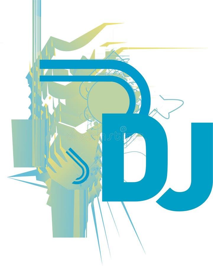 Le DJ CD COUVRENT ou aviateur illustration stock