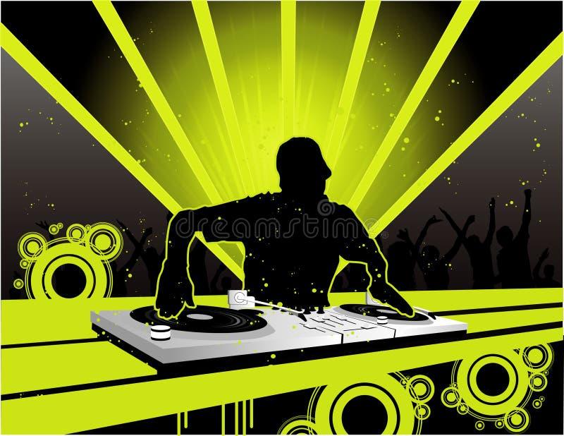 Le DJ dirigent la composition illustration stock