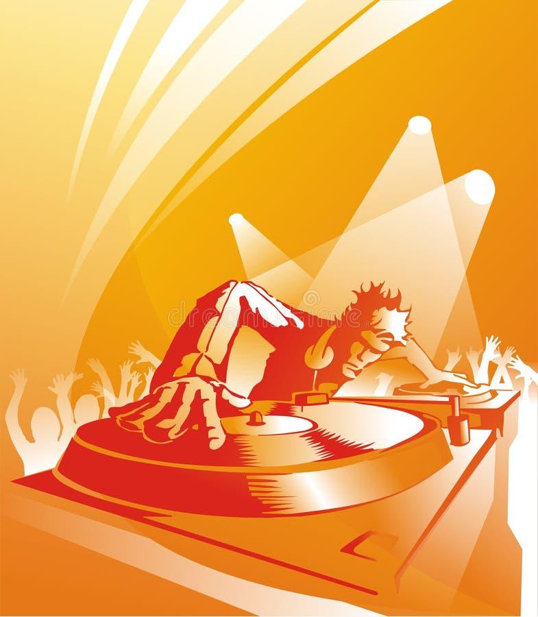 Le DJ, disque-jockey illustration de vecteur