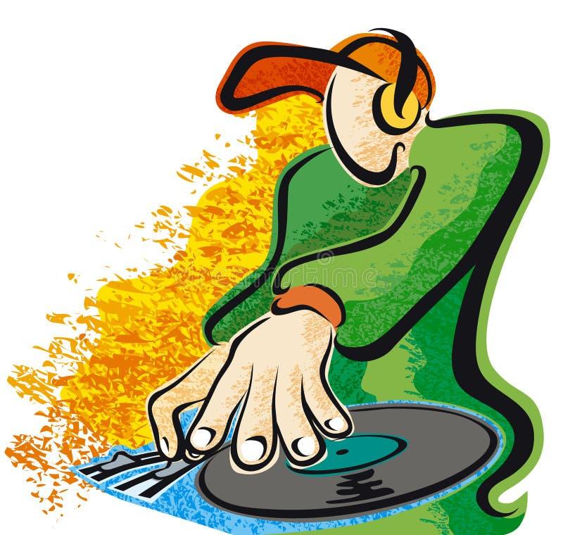 Le DJ donnent une consistance rugueuse illustration de vecteur