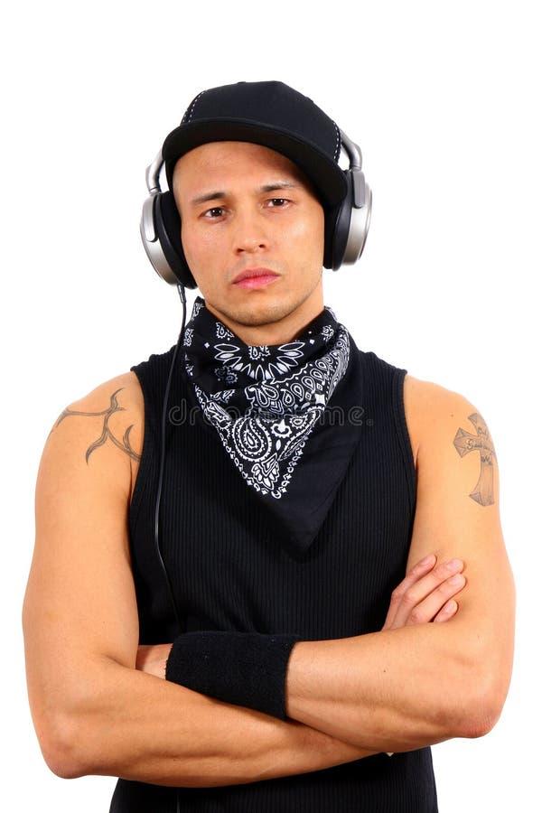 Le DJ intense image libre de droits