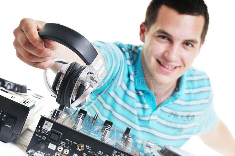 Le DJ party images stock