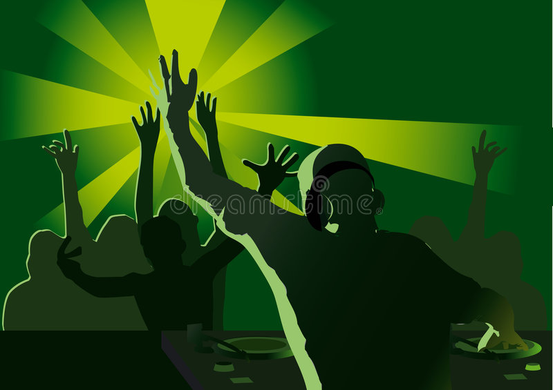Le DJ party illustration de vecteur