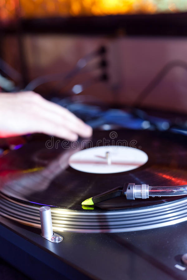 Le DJ raye photos stock