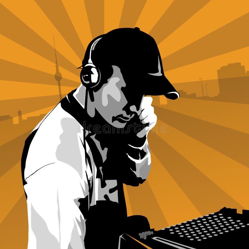 le DJ travaillent illustration libre de droits