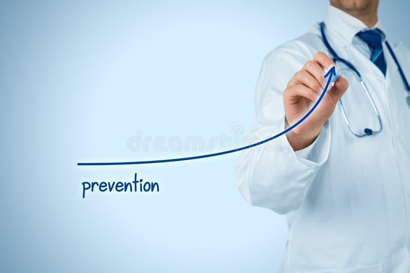 Le docteur améliorent la prévention images libres de droits