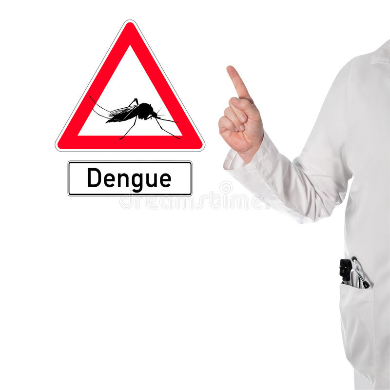 Le docteur avertit de la dengue photo libre de droits
