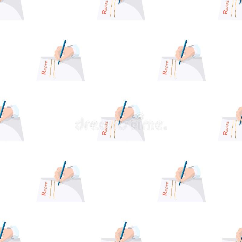 Le docteur prescrit la prescription Médecine en Web d'illustration d'actions de symbole de vecteur illustration stock