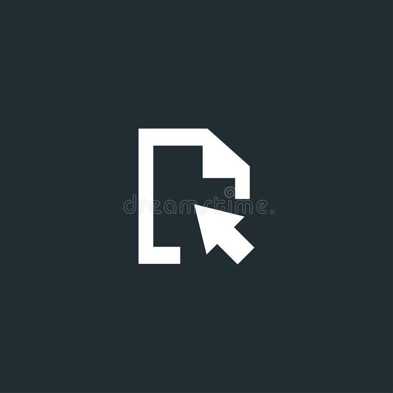 Le document cliquent sur, transfèrent, remplacent l'icône illustration de vecteur