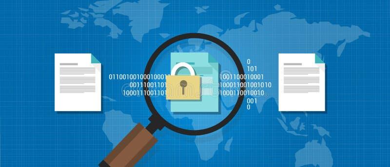 Le document de Wikileaks a coulé la protection numérique confidentielle secrète illustration de vecteur