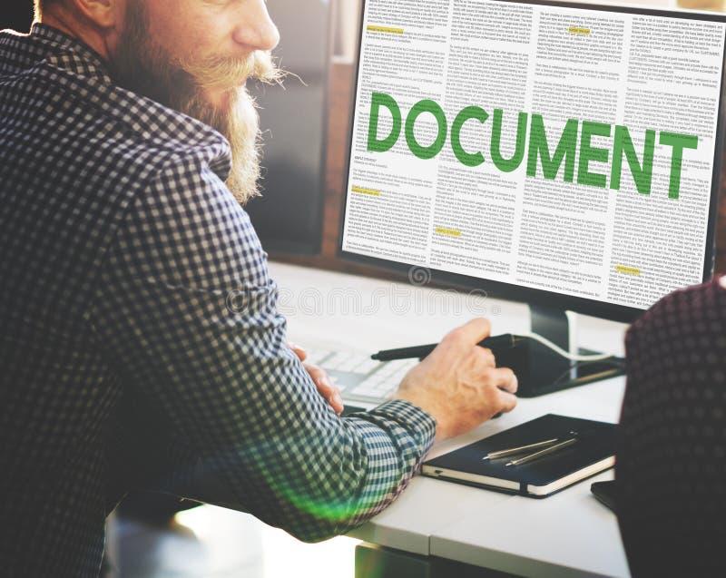 Le document forme le concept administratif de notes de lettres photographie stock libre de droits