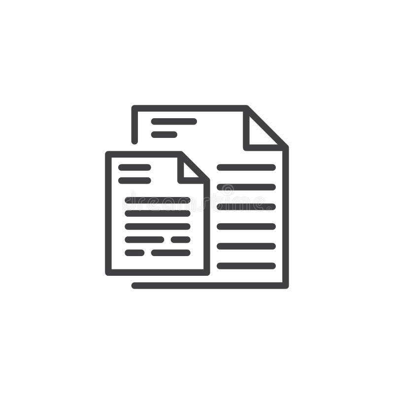 Le document pagine l'icône d'ensemble illustration de vecteur