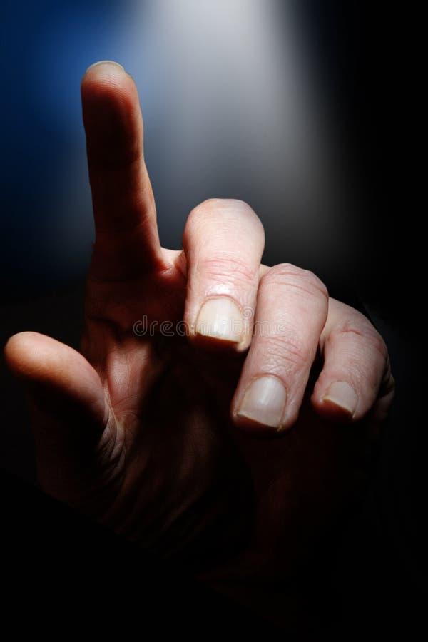Le doigt photographie stock libre de droits