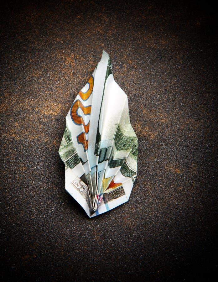Le dollar d'origami vêtx la qualité de studio d'argent photo stock