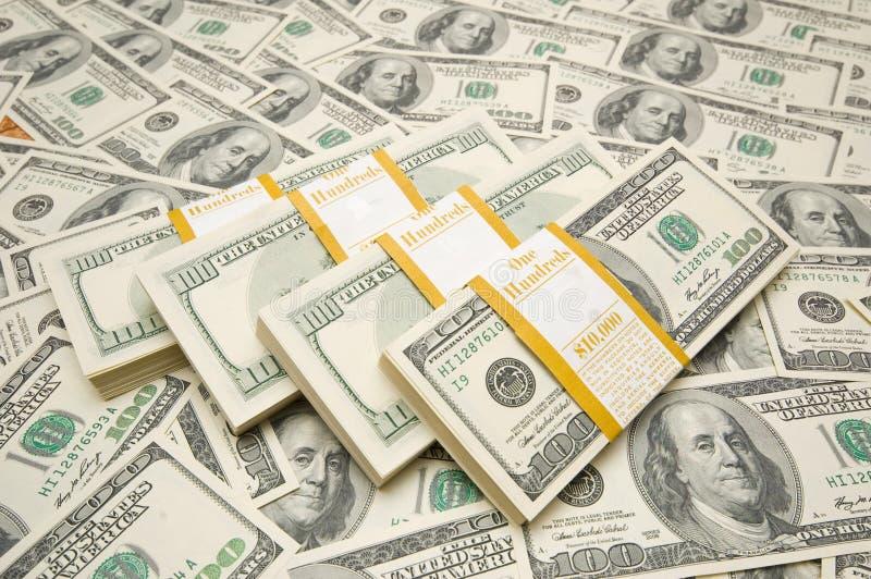 le dollar empile des dix-millièmes photos libres de droits