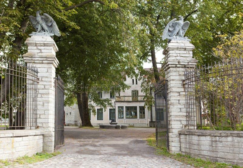Le domaine 1874 d'Orlov de compte sur la colline Maarjamae, une partie du musée estonien d'histoire images stock