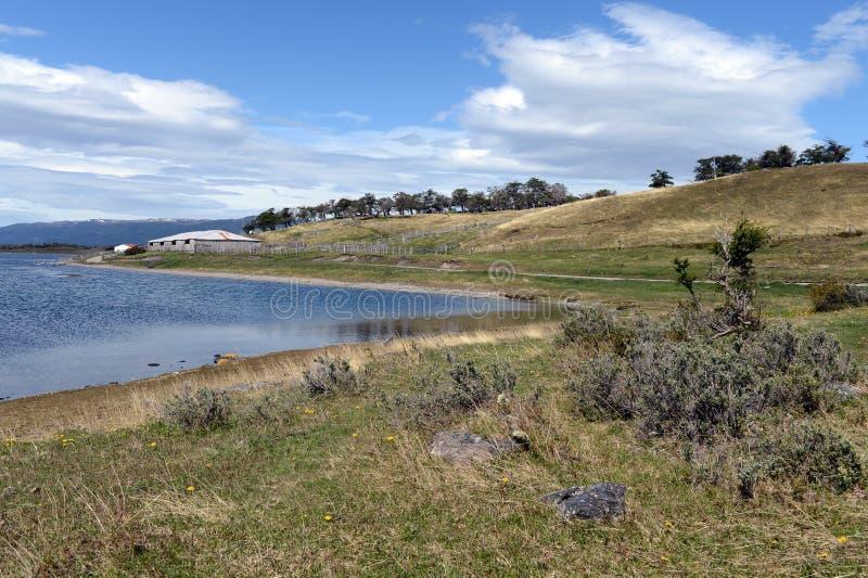 Le domaine de Harberton est la ferme la plus ancienne de Tierra del Fuego image libre de droits
