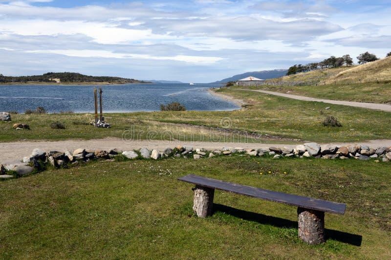 Le domaine de Harberton est la ferme la plus ancienne de Tierra del Fuego et d'un monument historique important de la région image libre de droits