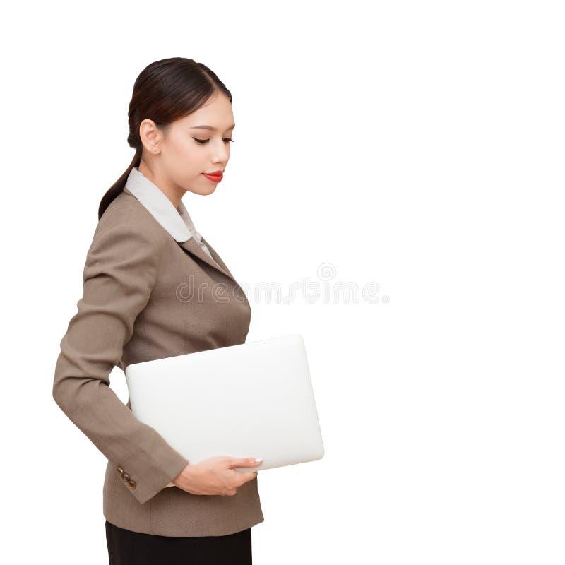 Le donne di affari… ed il vostro dito è su immagine stock libera da diritti