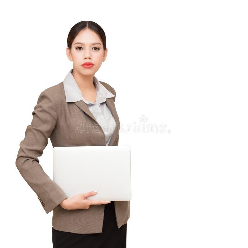 Le donne di affari… ed il vostro dito è su fotografia stock libera da diritti