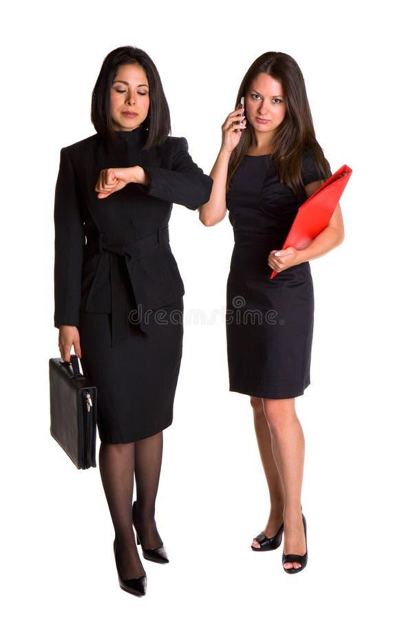 Le donne di affari stanno attendendo immagine stock libera da diritti