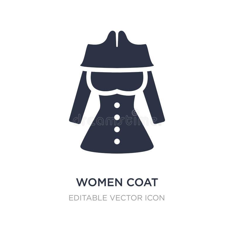 le donne ricoprono l'icona su fondo bianco Illustrazione semplice dell'elemento dal concetto di modo illustrazione di stock