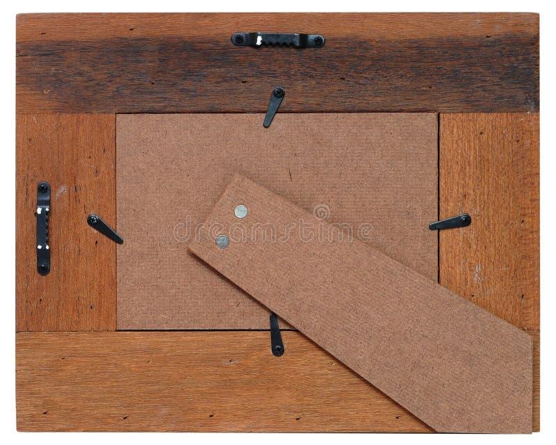 Le dos d'une trame en bois images libres de droits