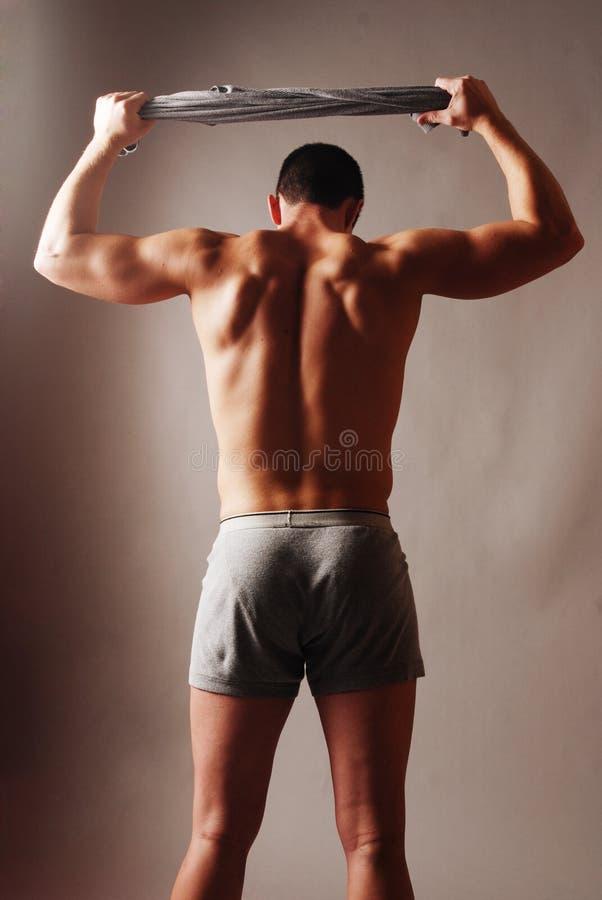 Le dos de l'athlète photographie stock libre de droits