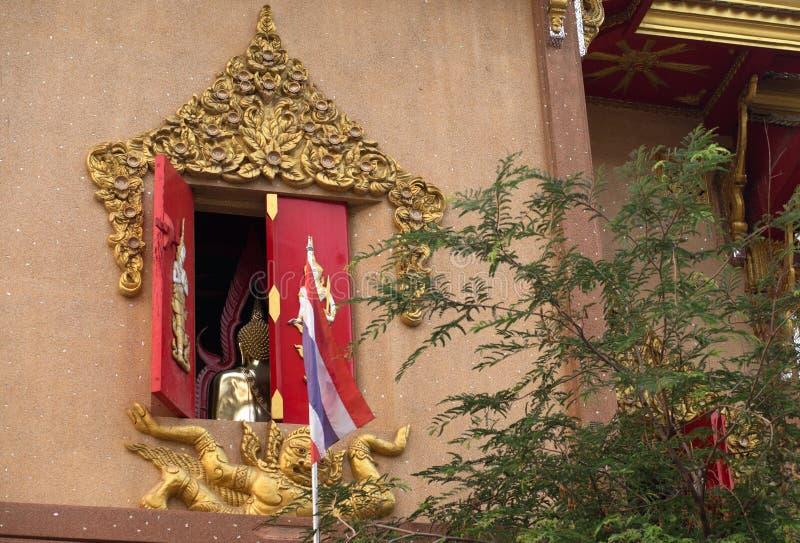 Le dos du Bouddha, temple de Laksi, Bangkok, Thaïlande photos stock