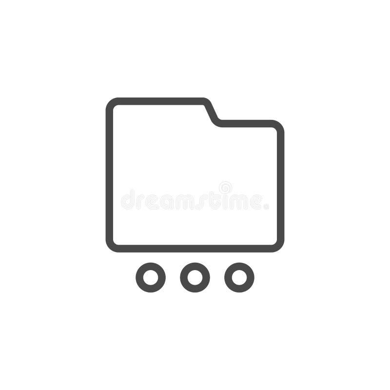 Le dossier, plus, des options dirigent l'icône Ic?ne minimaliste de vecteur d'ensemble de multim?dia illustration stock