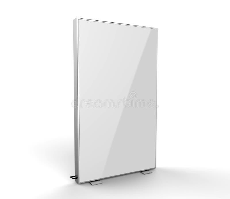Le double caisson lumineux latéral de la publicité a renforcé la boîte moins allumée de signe de cadre l'illustration 3d rendent illustration stock
