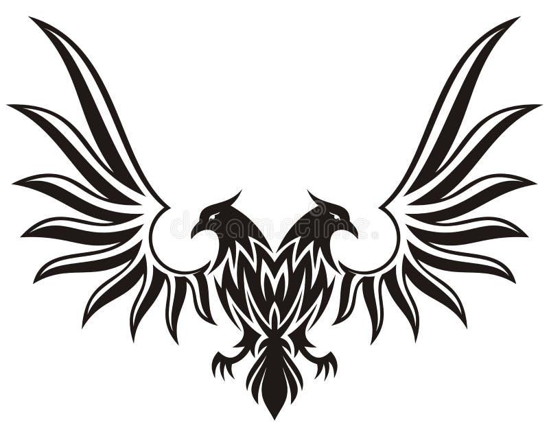 Le double a dirigé l'aigle 2 illustration libre de droits