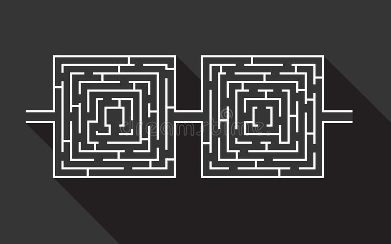 Le double jeu ducatif de labyrinthe difficile et long - Labyrinthe difficile ...