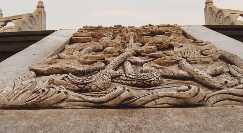 Le dragon en pierre photos stock