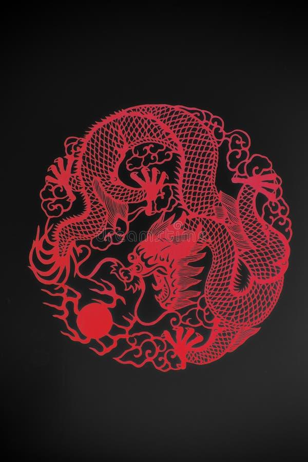 Le dragon papier-a coupé photos libres de droits