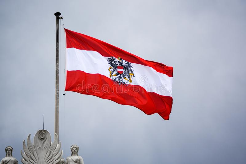 Le drapeau autrichien images libres de droits