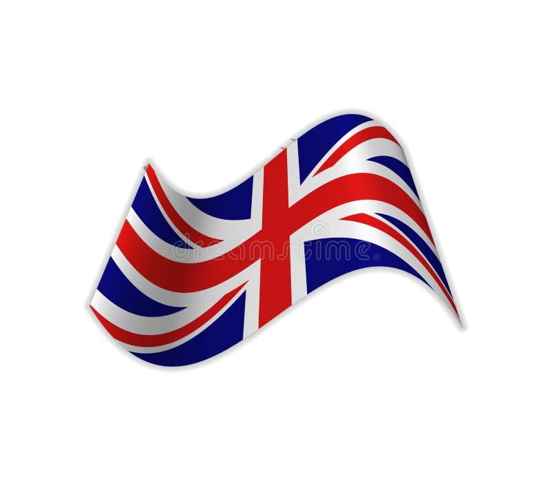 Le drapeau BRITANNIQUE illustration libre de droits